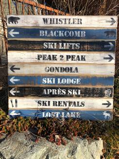 Custom Ski Sign - 9 boards