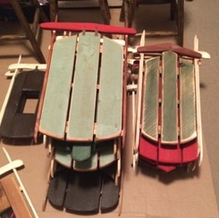 Rustic Sleds in the making