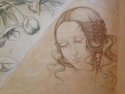 fresque visage