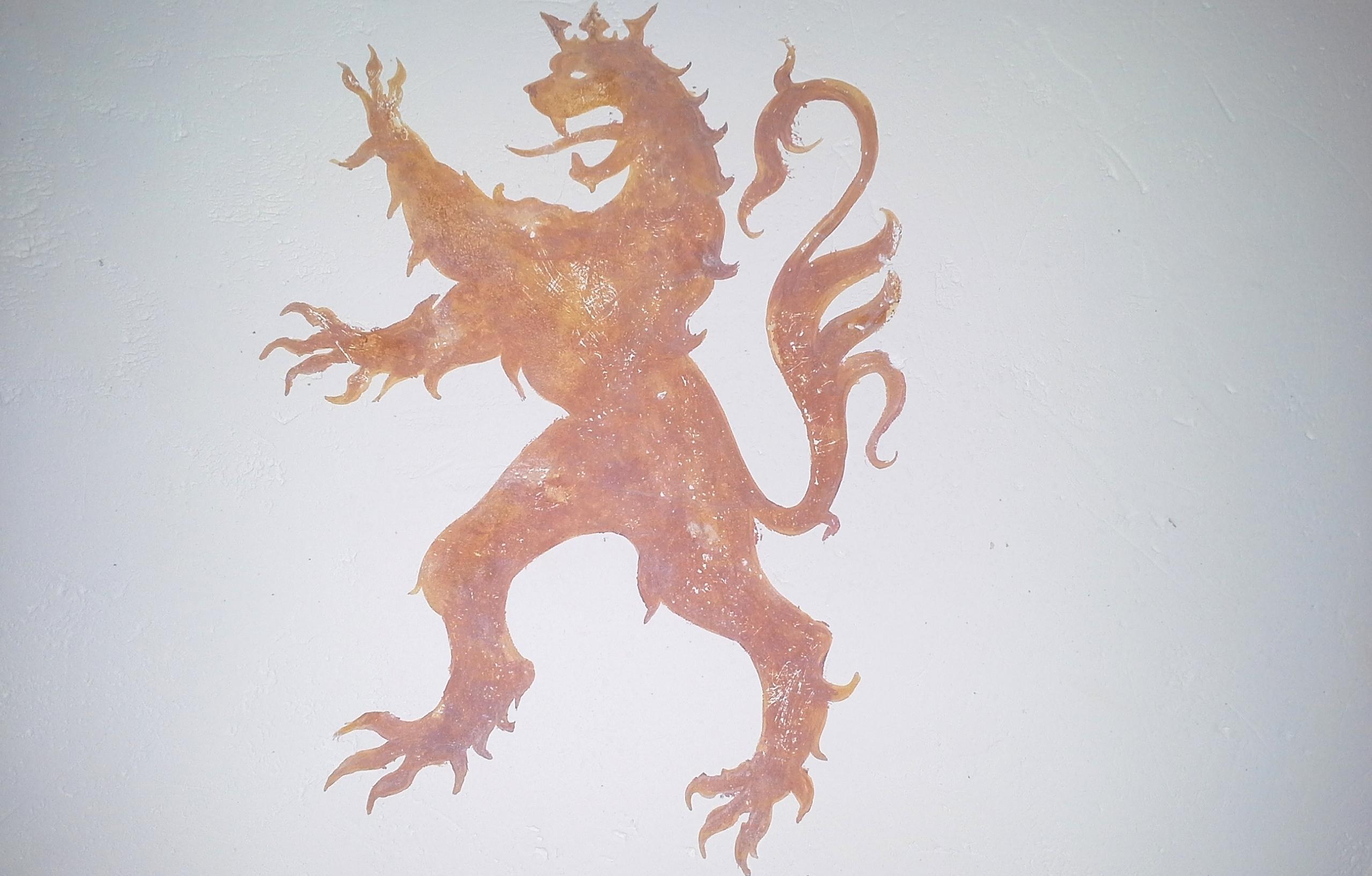Lion tempera