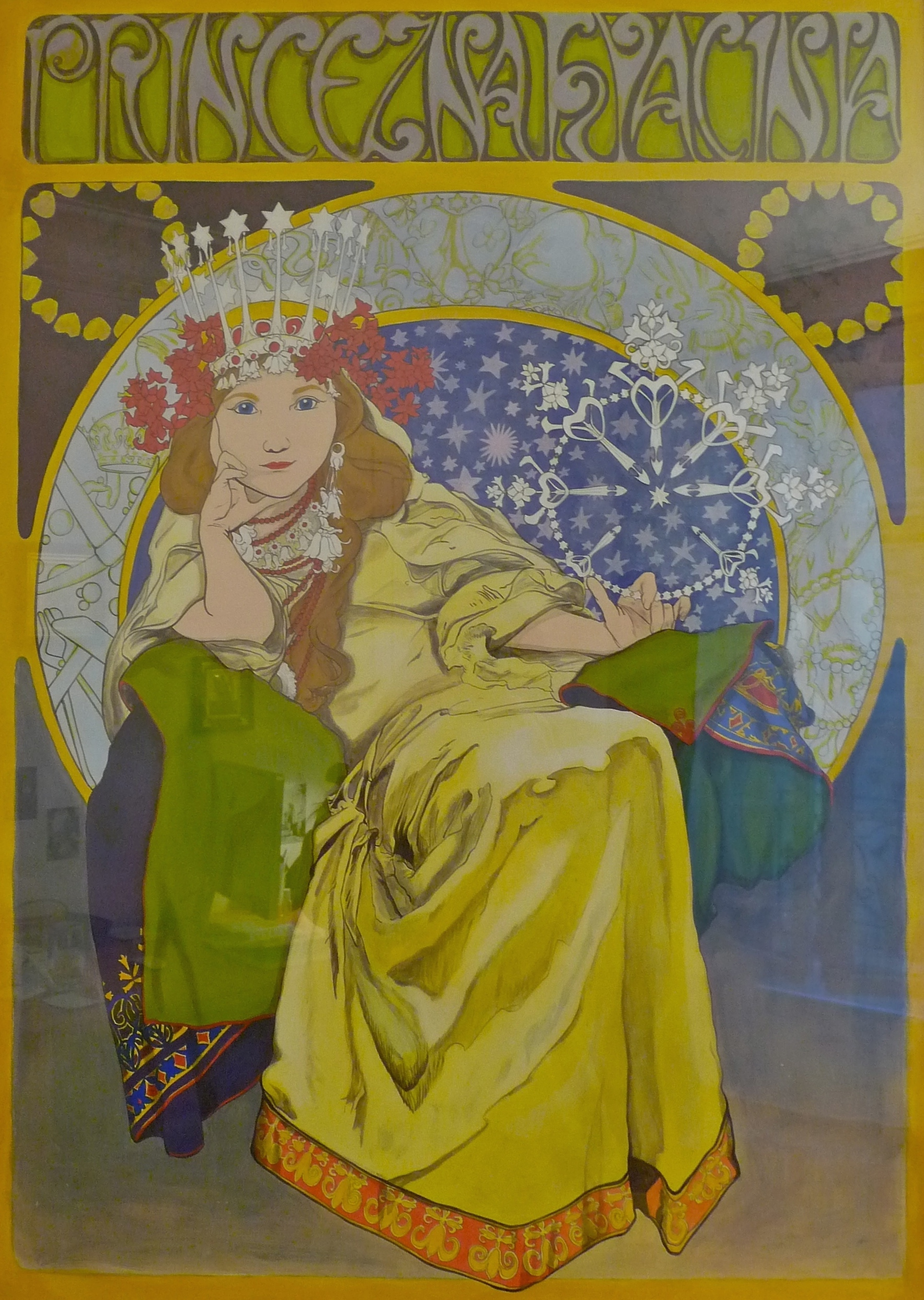 "Copy of ""Princeszna Hyacinta"" by Alfons Mucha."