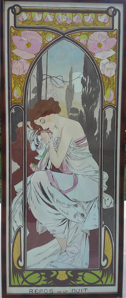 """Copy of """"The Times of Day"""" by Alfons Mucha"""