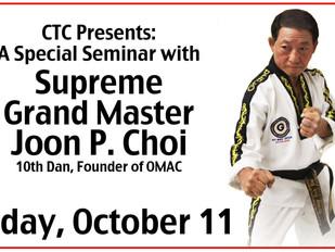 Special Seminar at CTC - Friday, Oct. 11