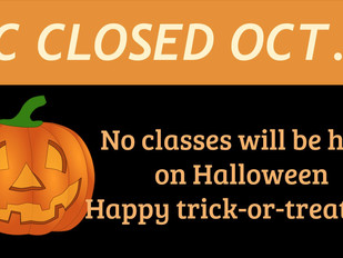 CTC Closed on Halloween