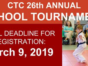 CTC Tournament Final Deadline: March 9