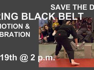 SPRING BLACK BELT PROMOTION