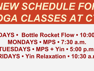 New YOGA Themes & Class Times