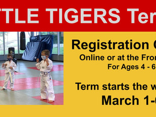 Little Tigers Term 2 Begins March 1