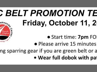 CTC Belt Promotion - Oct. 11