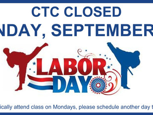 CTC Closed Labor Day