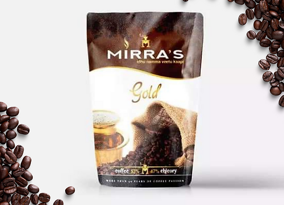 Mirras Gold Filter Coffee, 200gms × 2  | 53% coffee, 47% chicory | Pack of 2