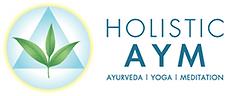 Logo d'Holistic AYM, Ayurveda, Yoga, Meditation