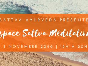 Espace Sattva Méditation - 3 novembre 2020