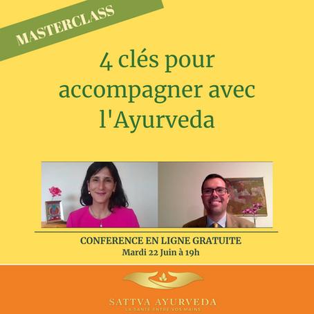 4 Clés pour accompagner avec l'Ayurveda - Conférence en Ligne