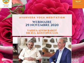Webinaire Ayurveda, Yoga et Méditation - 29 Novembre 2020