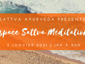 Espace Sattva Méditation - 5 janvier 2021