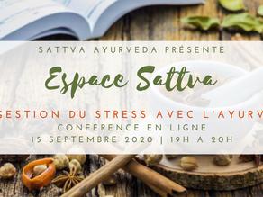 Espace Sattva - La Gestion du Stress avec l'Ayurveda