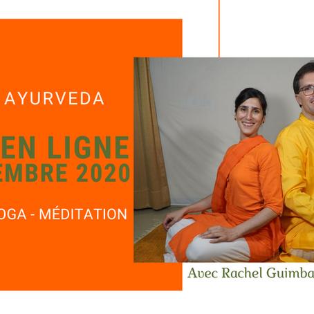 Stage en Ligne - Cuisine Ayurvédique, Yoga, Méditation