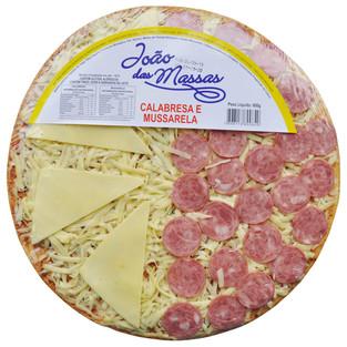 PIZZA DE CALABRESA E MUSSARELA 600g