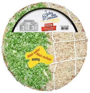 PIZZA DE BRÓCOLIS E FRANGO COM REQUEIJÃO 800g