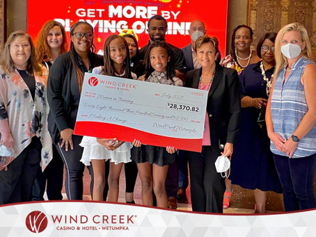 Wind Creek Wetumpka Donated Almost $30,000 to Women in Training, Inc.