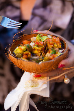 Ceviche - Coconut Shell