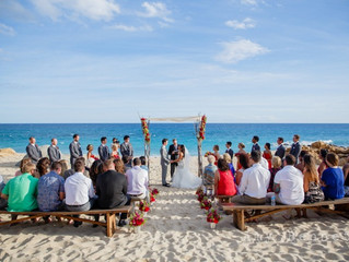 Colorful Beach Wedding in Los Cabos for Victoria and Rick