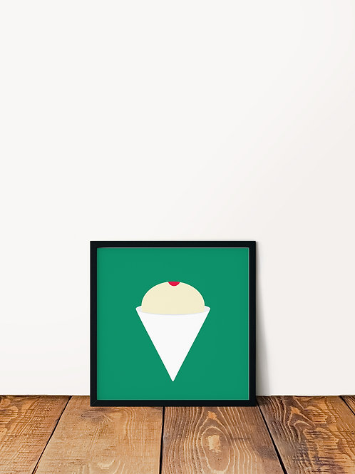Manapua Shave Ice Poster 10x10