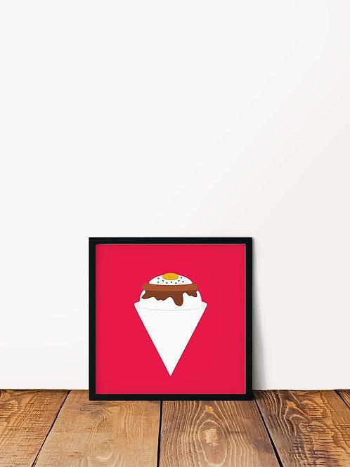 Loco Moco Shave Ice Poster 10x10