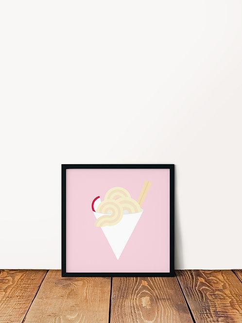 Saimin Shave Ice Poster 10x10