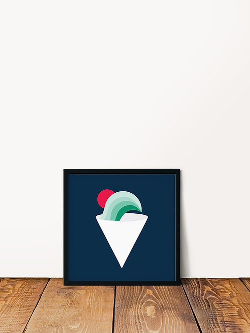 Wave Shave Ice Poster 10x10