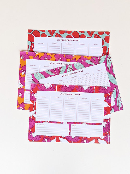 Late Bloomer Weekly Intentions Pad