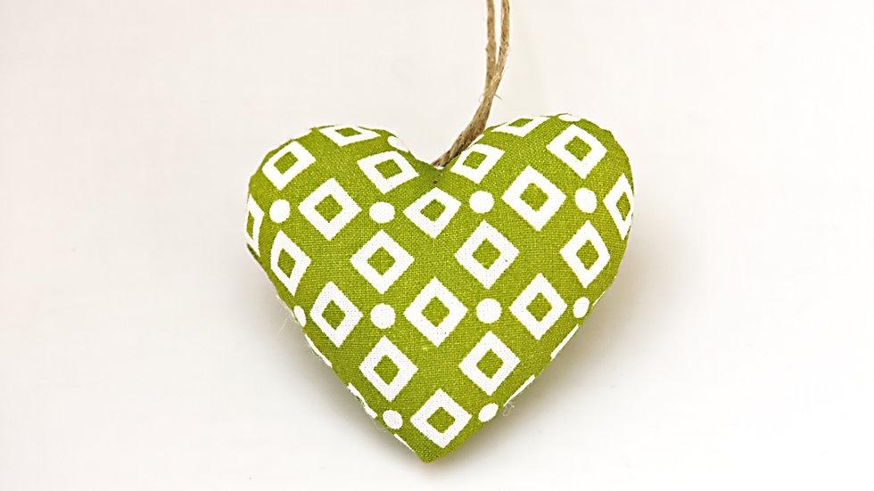 Coeur Vert Géométrique