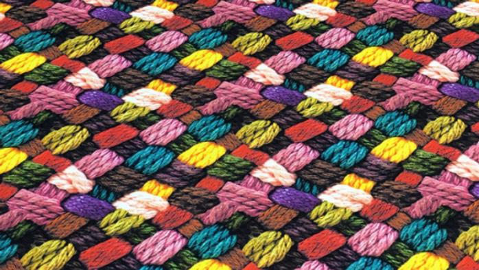 Tissu Imprimé motif de laine