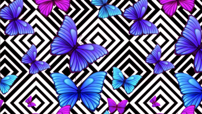 Tissu Imprimé Papillon