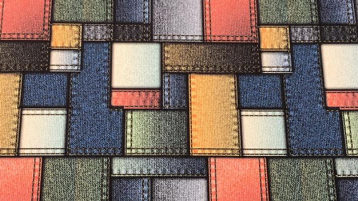 Tissu Imprimé motif Patchwork