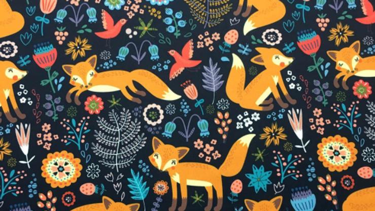Tissu Imprimé motif Renard