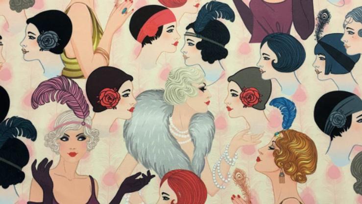 Tissu Imprimé Femmes Années 30