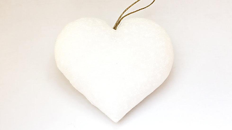 Coeur Blanc Fleuri