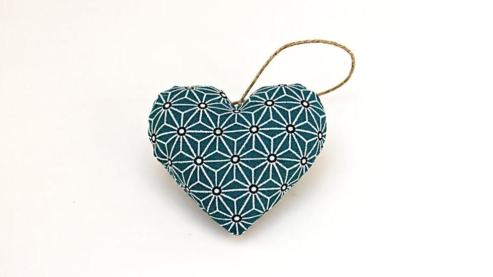 Coeur Bleu Géométrique