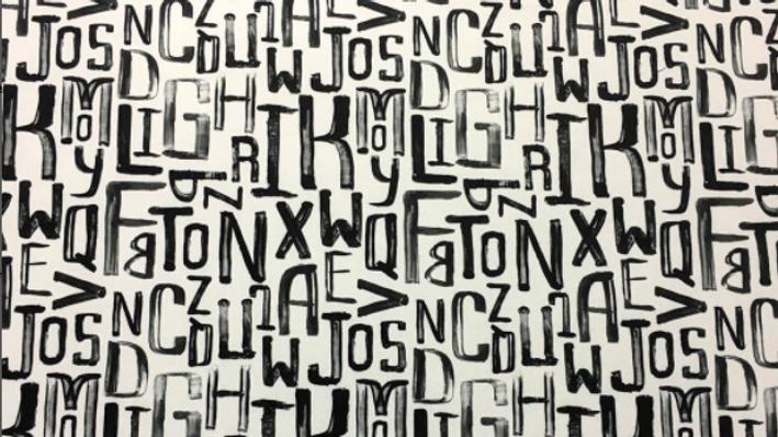 Tissu Imprimé Lettres