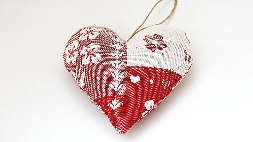 Coeur patchwork Rouge