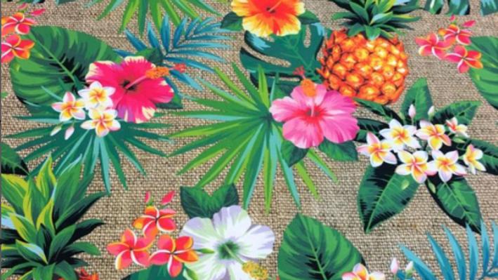 Tissu Imprimé Ananas Jute