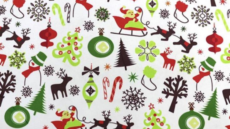 Tissu Imprimé Noël