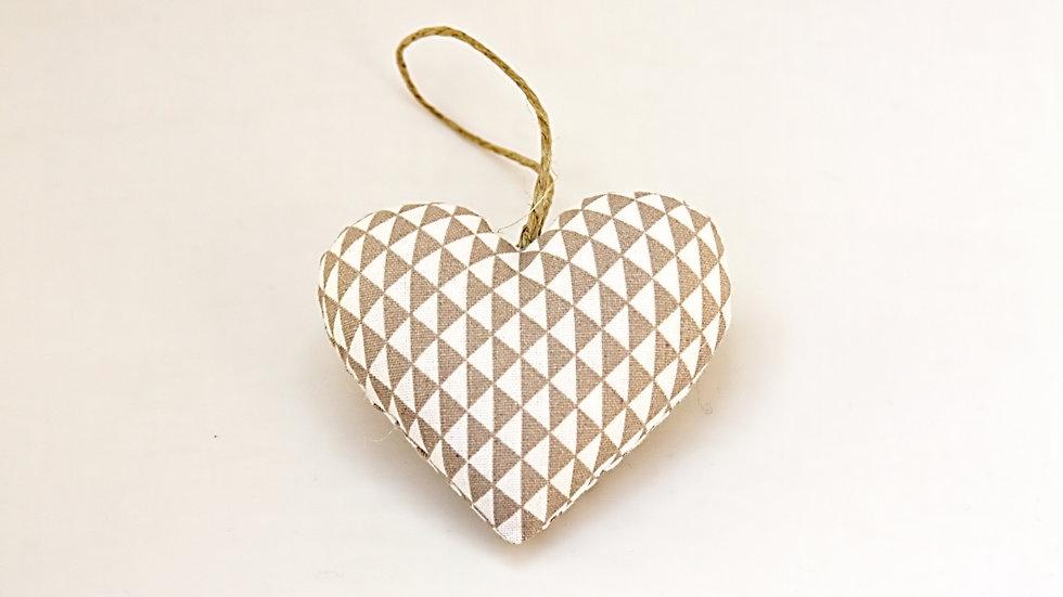 Coeur Géométrique Beige
