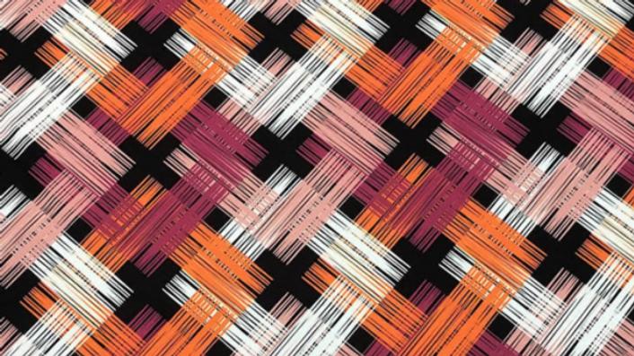 Tissu Imprimé Rose / Orange