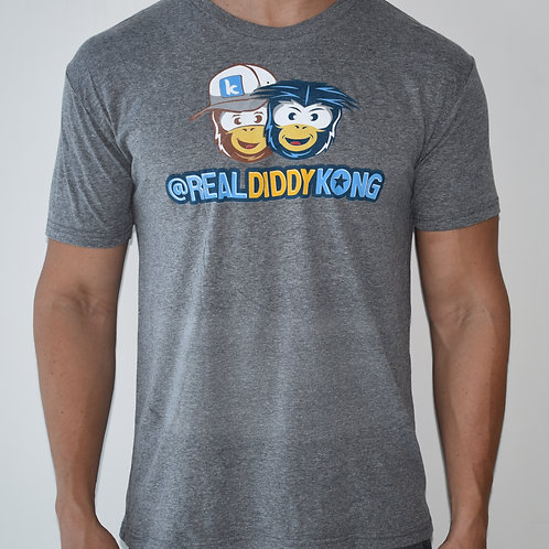 Limited Gray Mens Official Diddy Kong T-Shirt