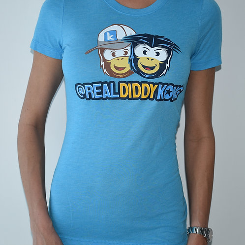 Limited Blue Womens Official Diddy Kong T-Shirt