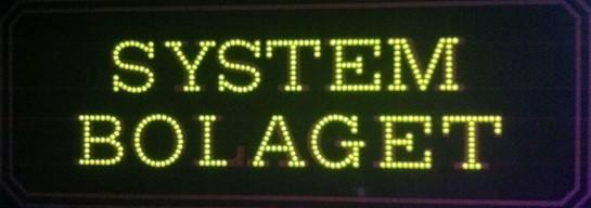 Ljusskylt Systembolaget