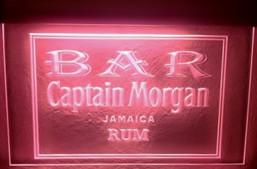 Ljusskylt Captain Morgan